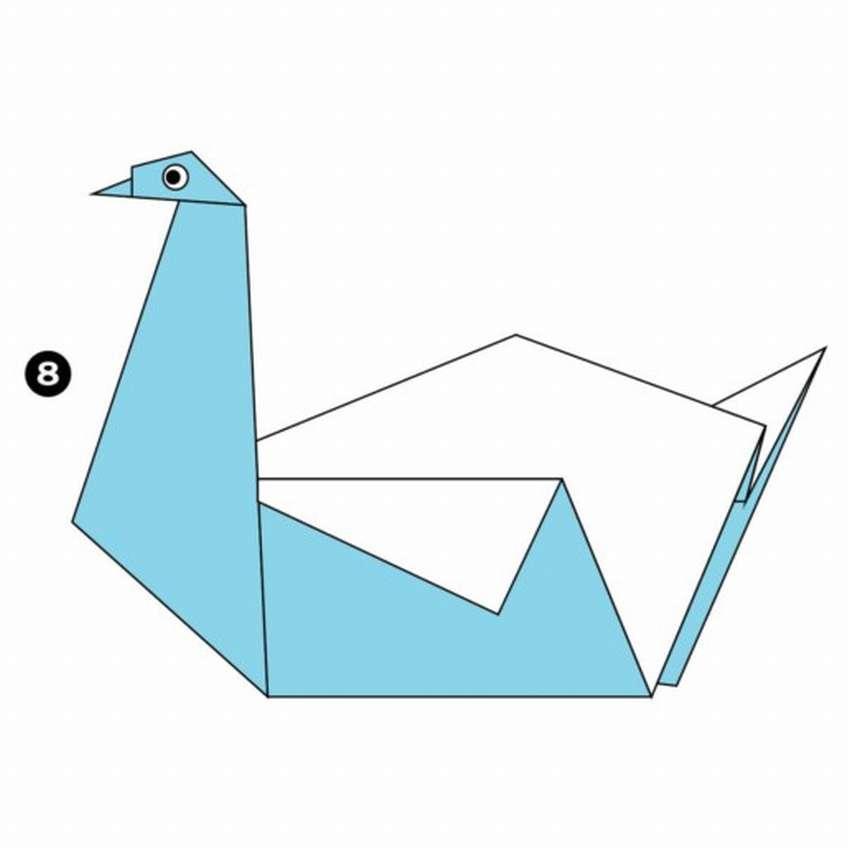 как сделать открытку лебедь отличное сооружение для