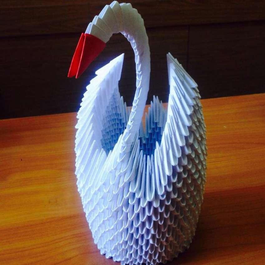картинки модульного оригами лебедь схема поверхности насекомое захватывает