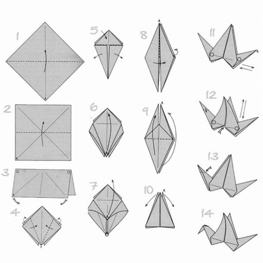 оригами пошаговое фото своими руками журавлик готовить рагу без