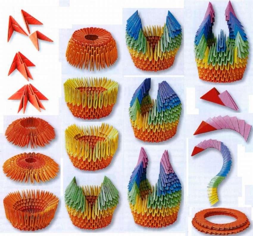 Картинки оригами модульные схемы поэтапно