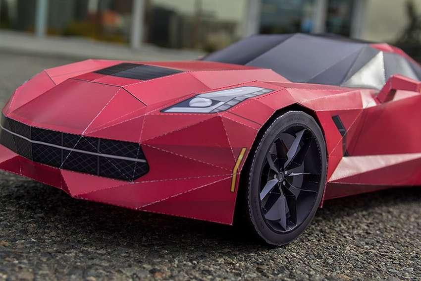 Машины из бумаги спорткары