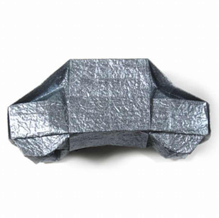 машина оригами из бумаги схема