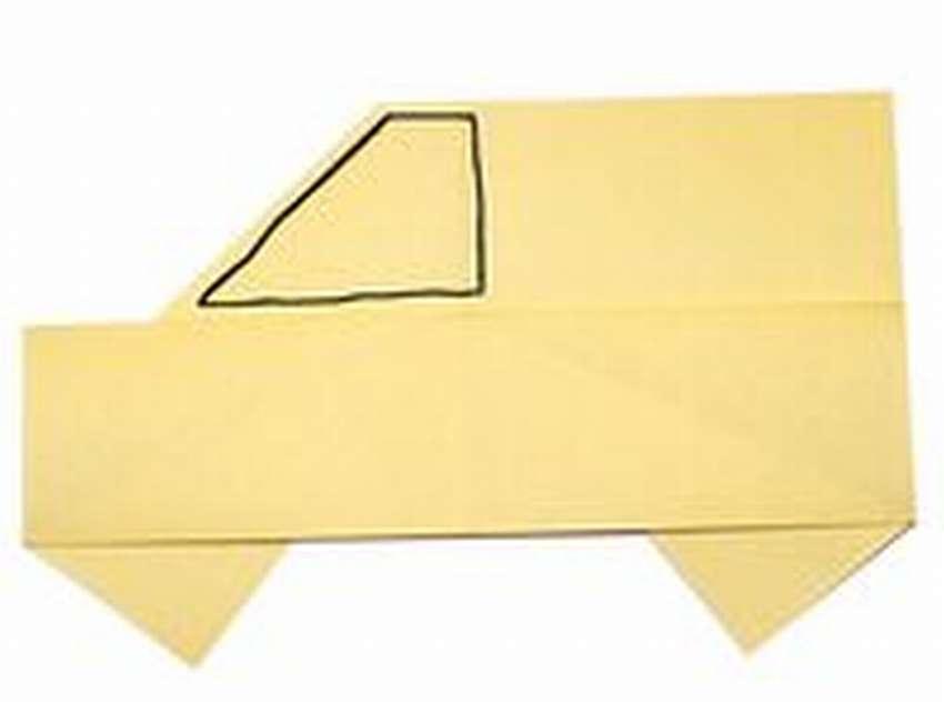 легкая машинка оригами