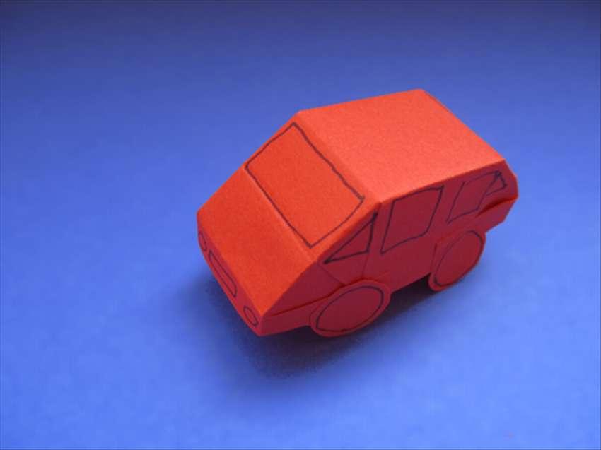 машинка оригами для детей