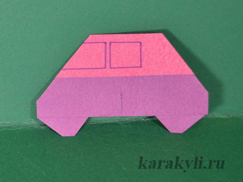 простое оригами для малышей