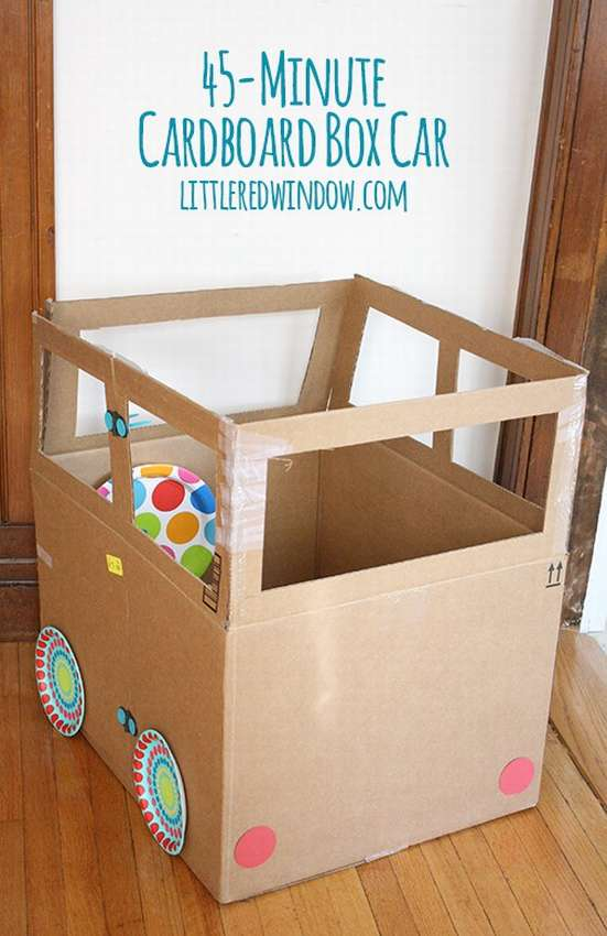 машина из картонной коробки