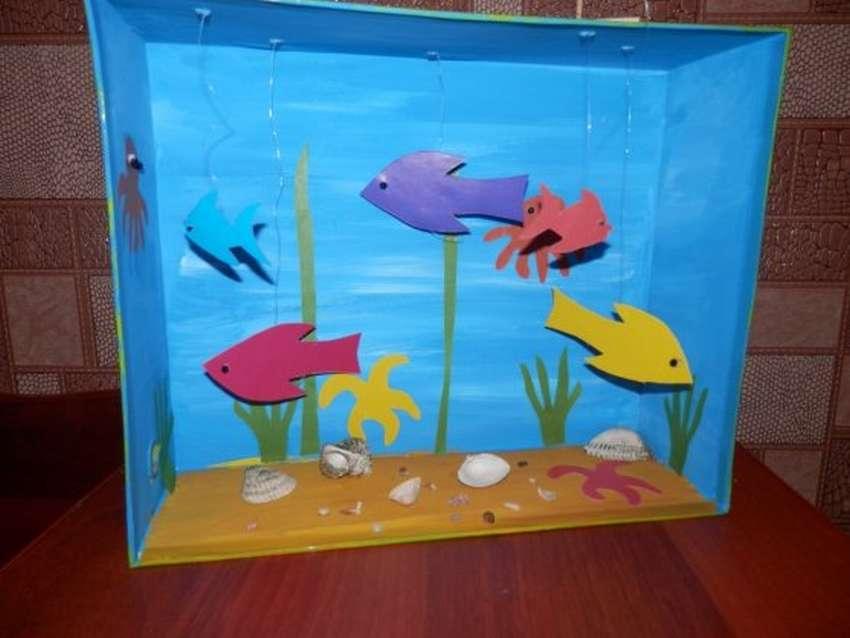 признаки того поделка аквариум с рыбками из коробки сложнее