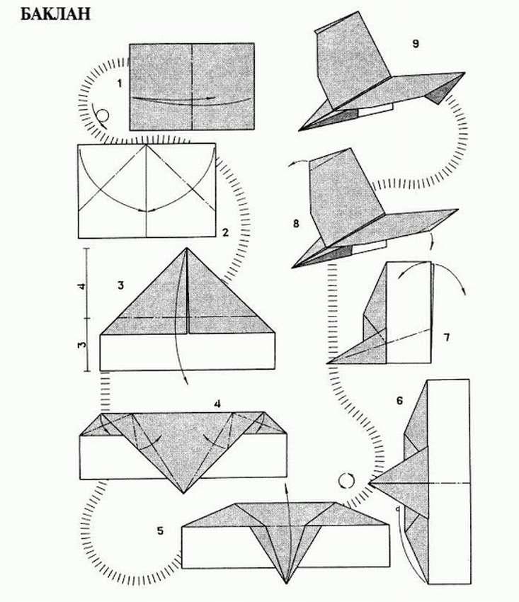 Самолетики из бумаги схемы картинки