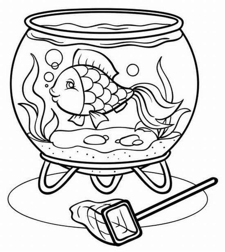 Рисунок для аквариума распечатать
