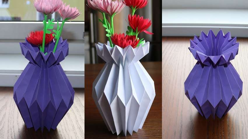 Картинки вазы из бумаги