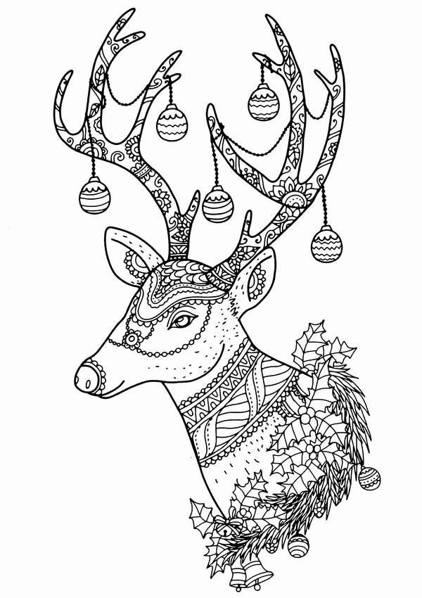 олени рисунок карандашом на новый год опубликовал своем микроблоге