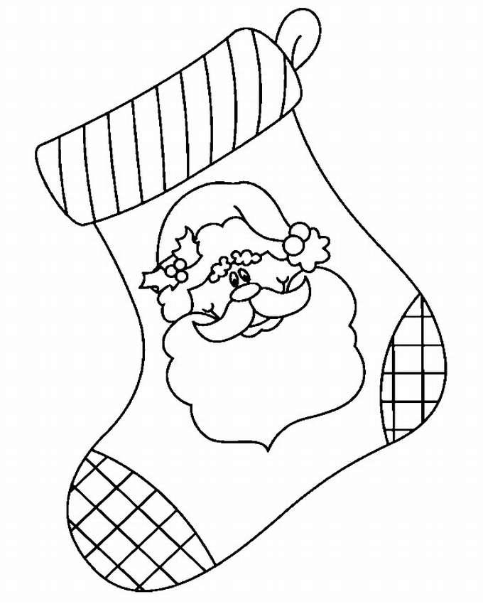 раскраска носков на новый год задействованы геометрические фигуры