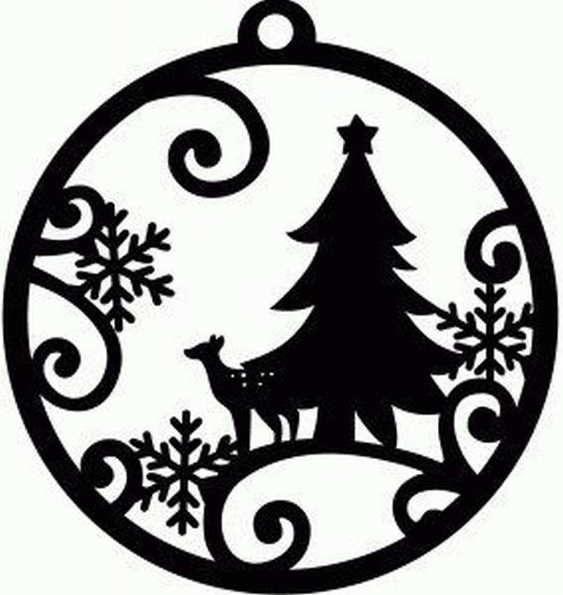 Черно белые картинки на новый год для вырезания