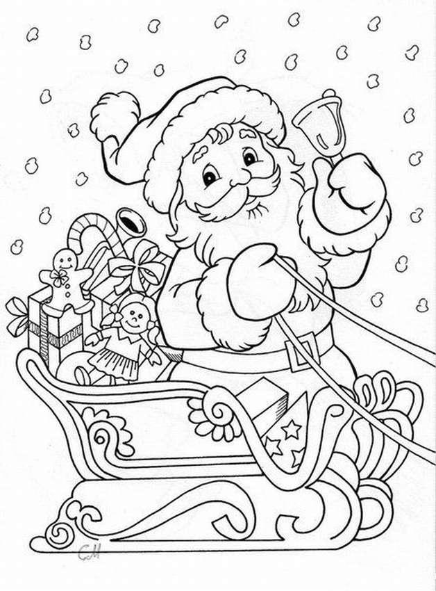 Картинки трафареты деда мороза и снегурочки