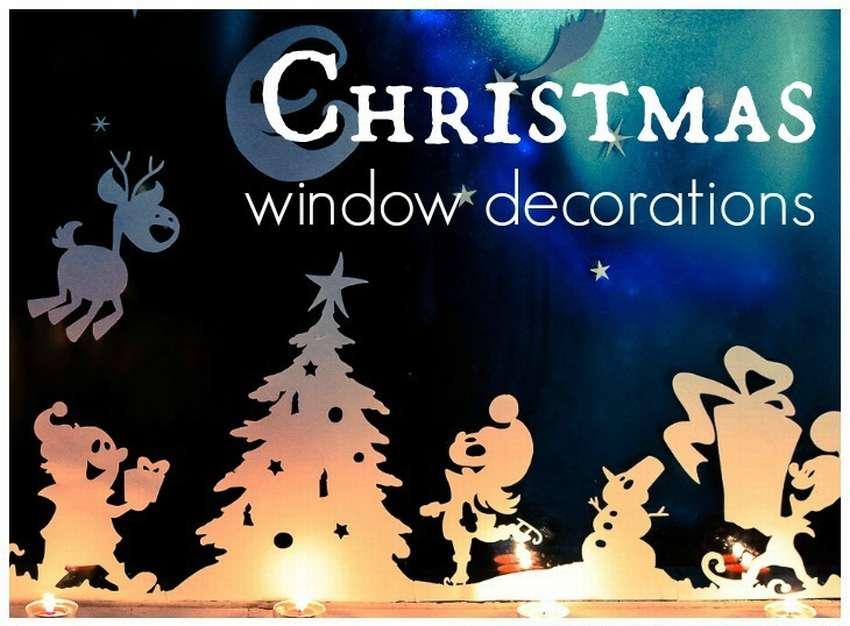 рождественские украшения на окна