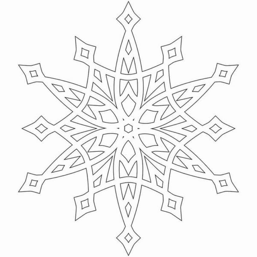 Снежинки из бумаги шаблоны картинки