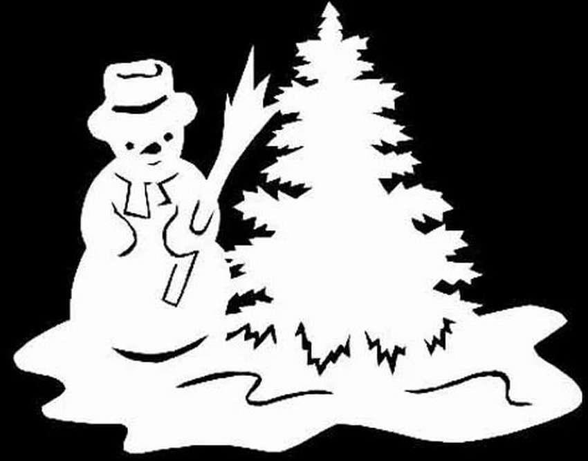 картинки снежинки дом снеговик для окон вырезать обустройстве приусадебного участка