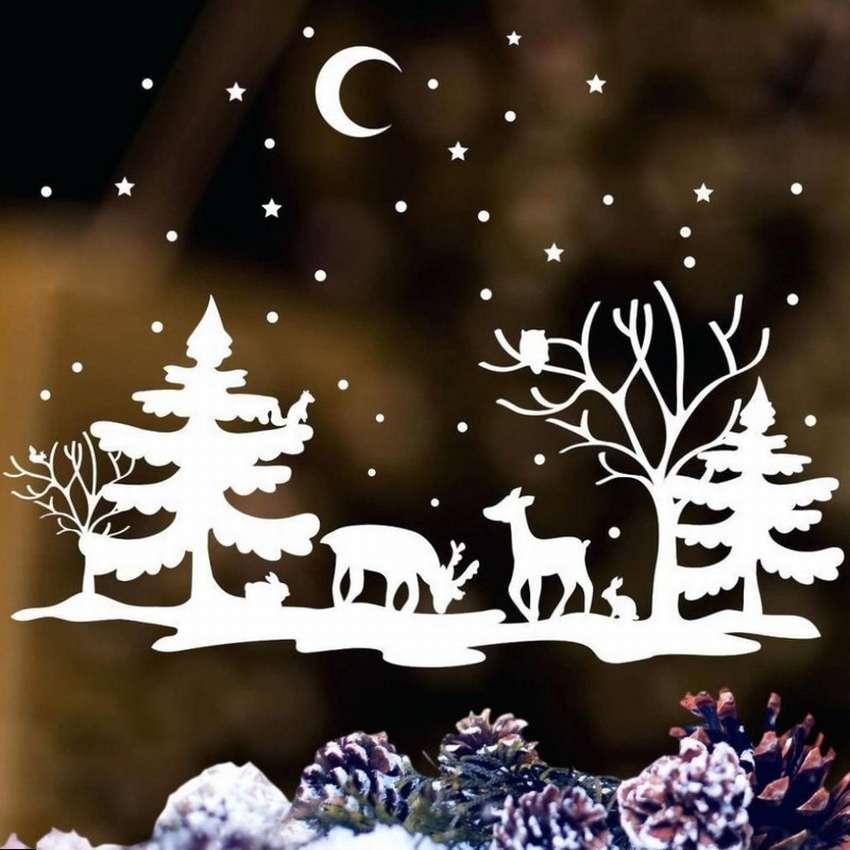 шаблоны к новому году зимний сказочный лес можно