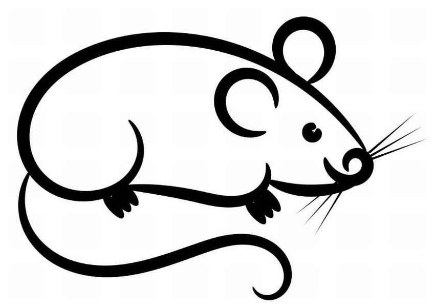 картинка крысы для вырезания анкеты