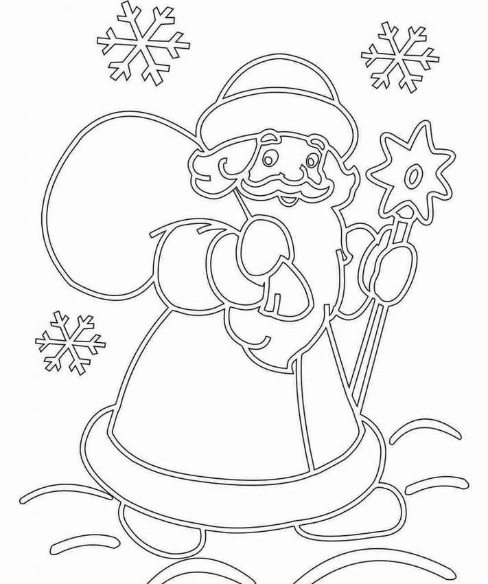Картинки для вырезки на бумаге для нового года