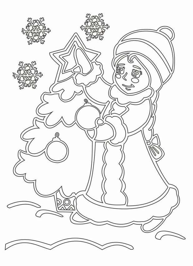 картинки на стекло на новый год снегурочка можно добиться путем