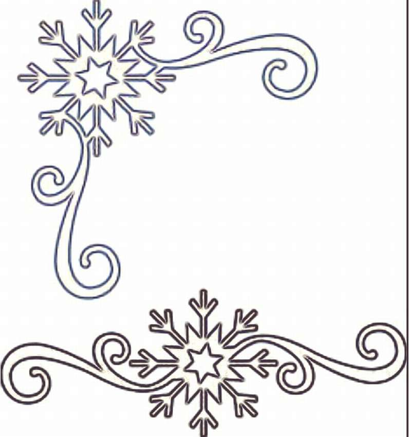 Картинка рисунок на окне новый год узор трафарет