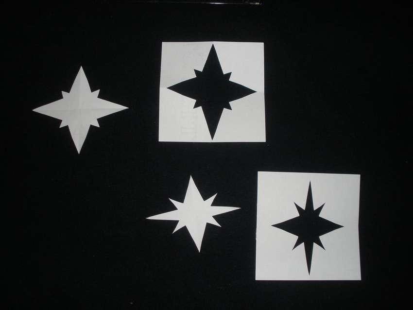 как сделать трафарет звезды из бумаги