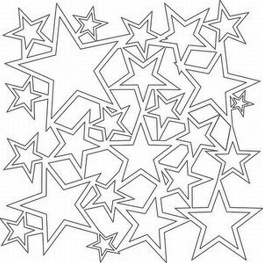 трафареты звезд на окно к Новому году