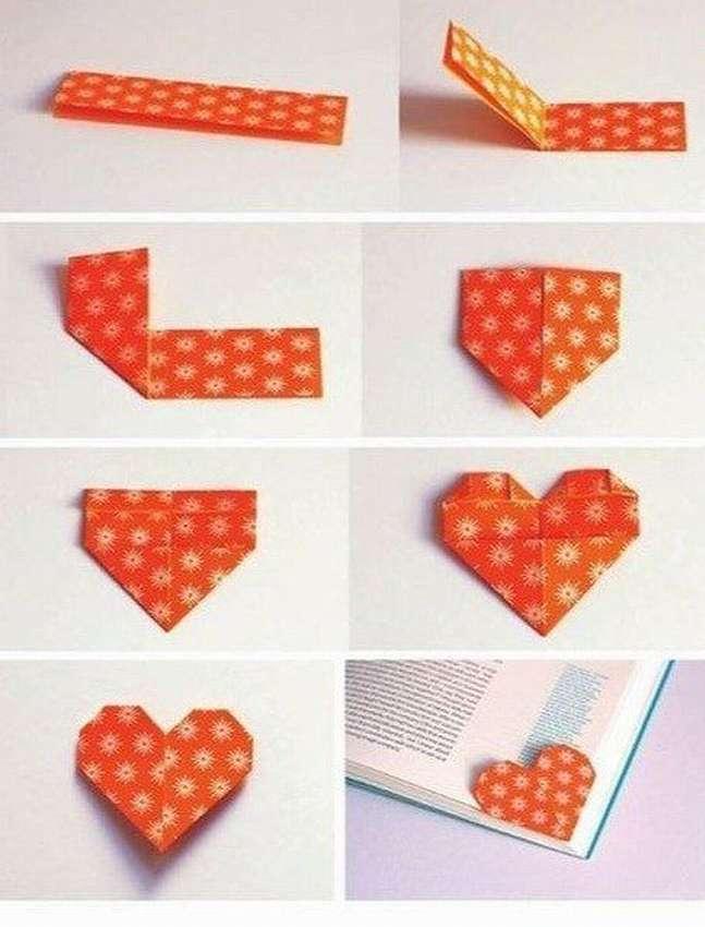как сделать закладку сердечко