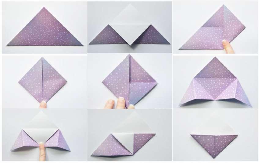 сделать угловую закладку из бумаги