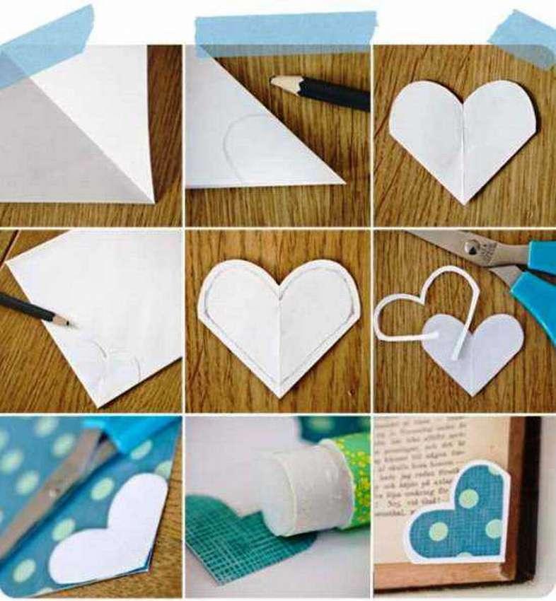 как сделать угловую закладку из бумаги