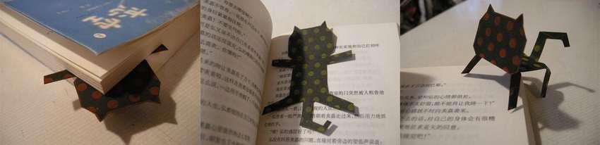 закладка котенок из бумаги