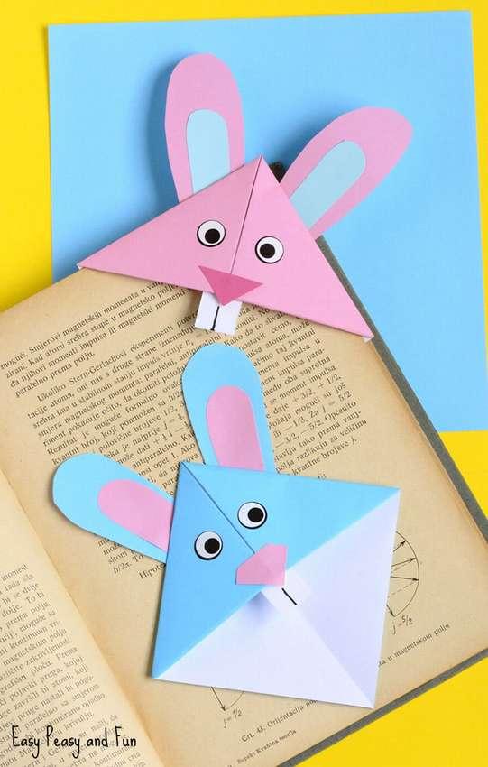 закладка заяц из бумаги