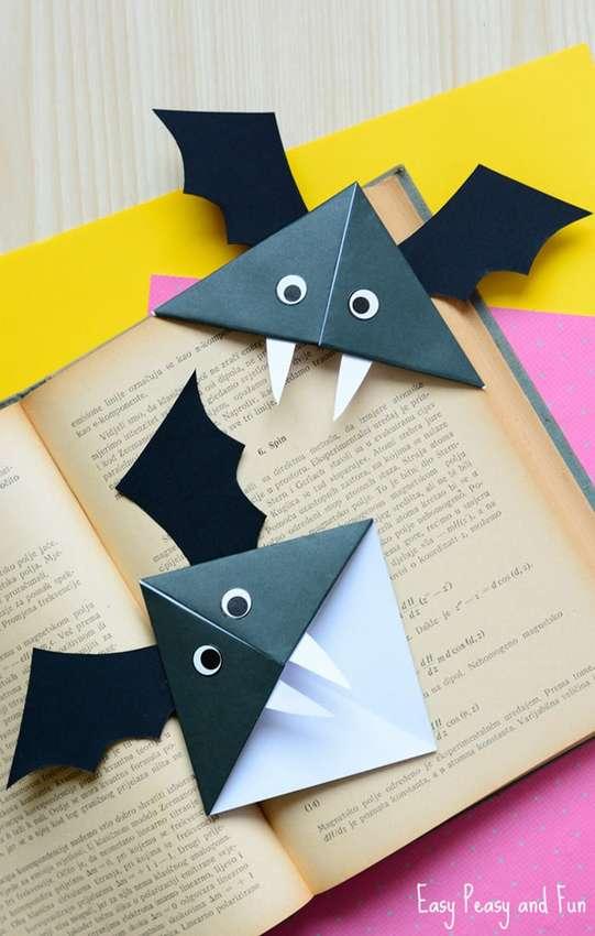 закладка из бумаги летучая мышь