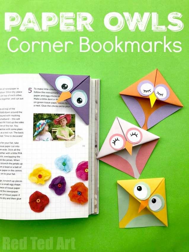 закладка для книг сова