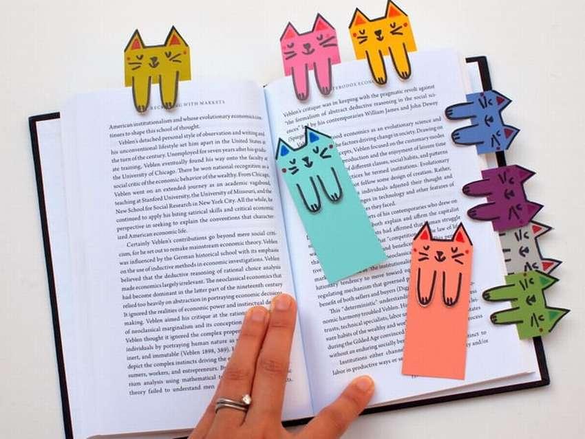 закладка для книг коты