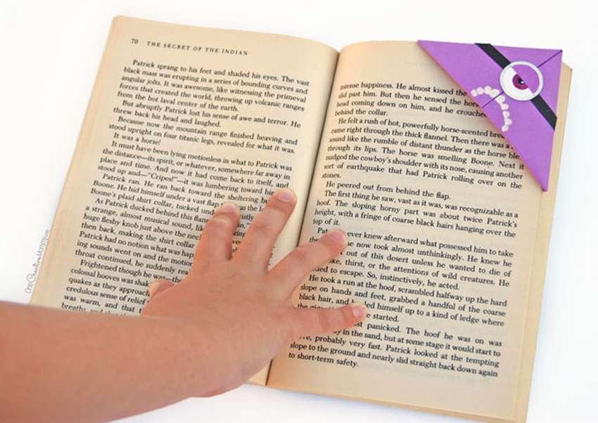 как быстро сделать закладку для книги