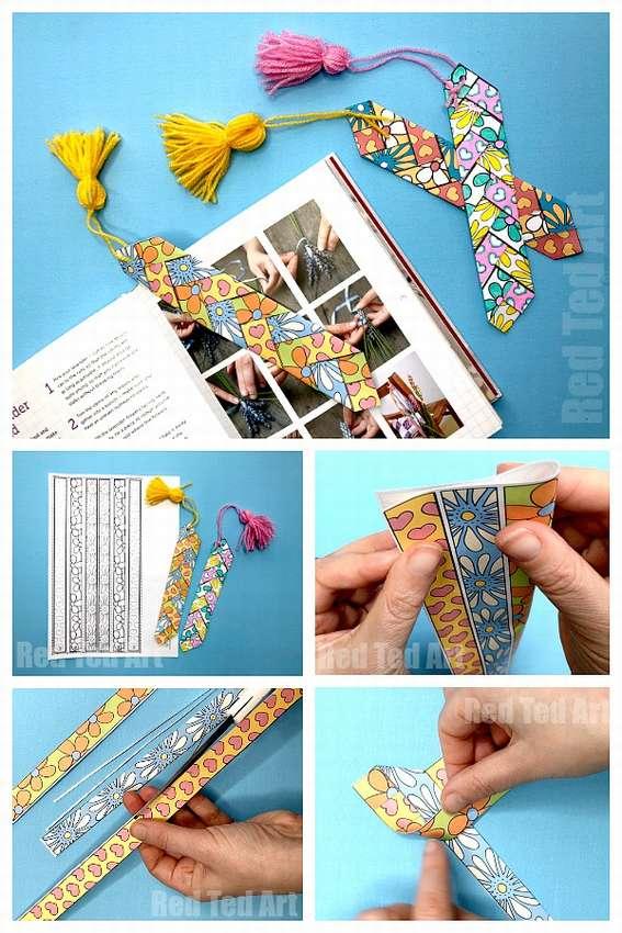 закладка для книг плетеные из бумаги