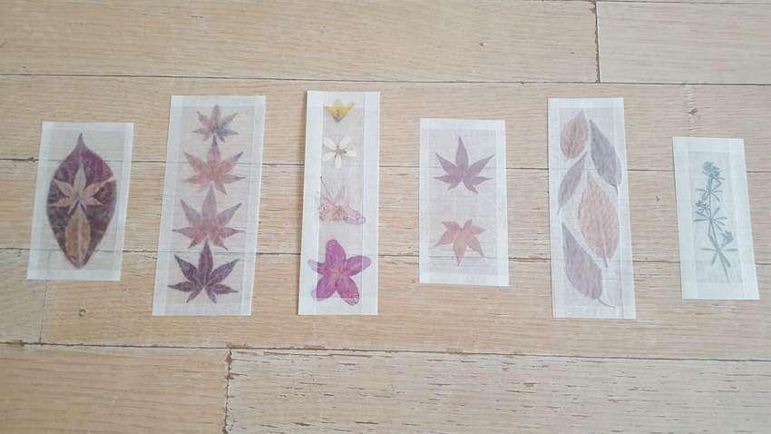 закладки с листьями