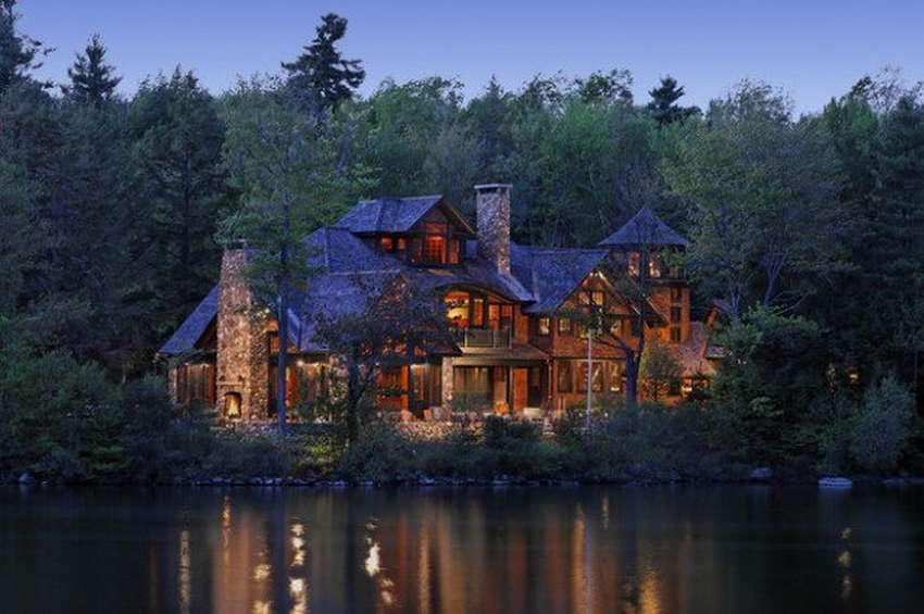 Фото красивых особняков в лесу