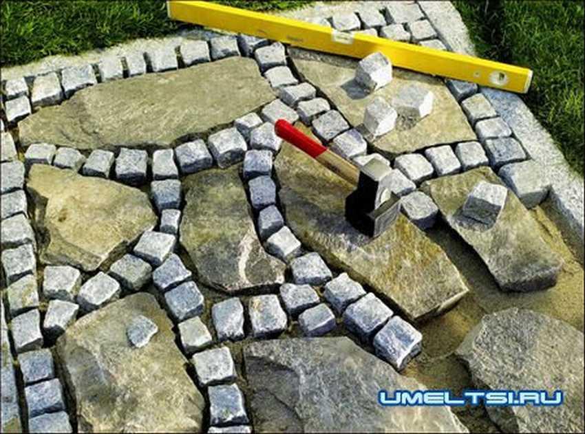 Дорожка из бутового камня своими руками