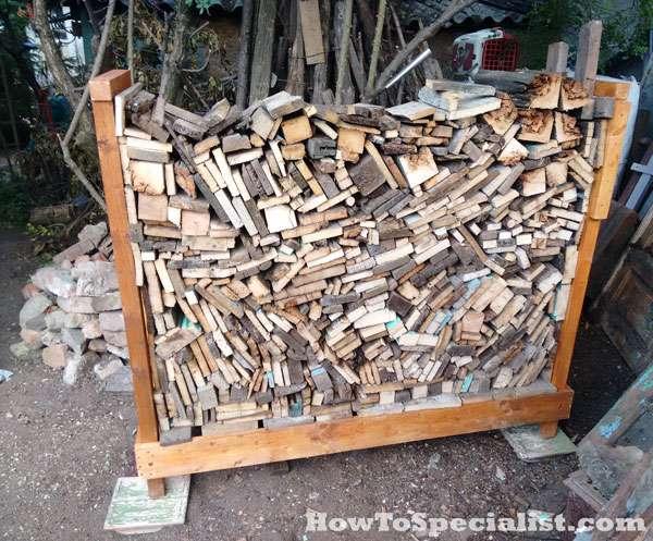 как сделать подставку для дров