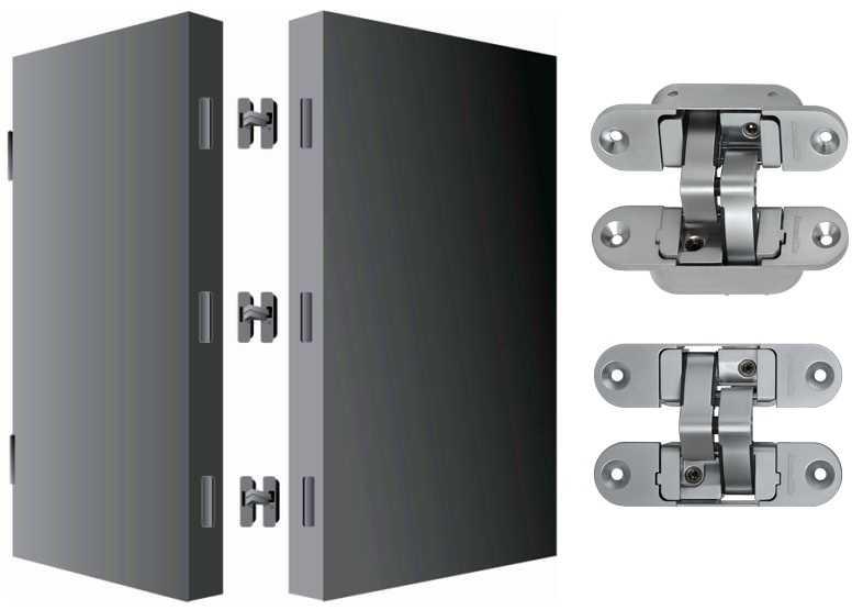 Скрытая петля для складной двери гармошки