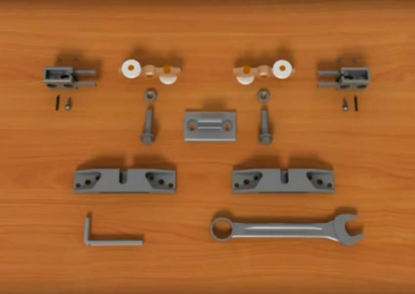 Как установить раздвижную дверь на подвижный механизм?
