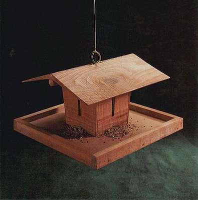 кормушка для птиц из фанеры чертеж