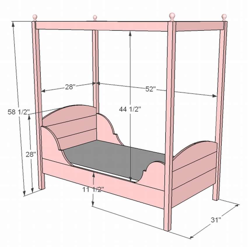 детская кровать с навесом