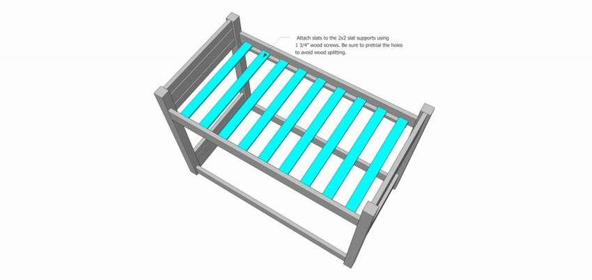 двухъярусная кровать с металлической лестницей