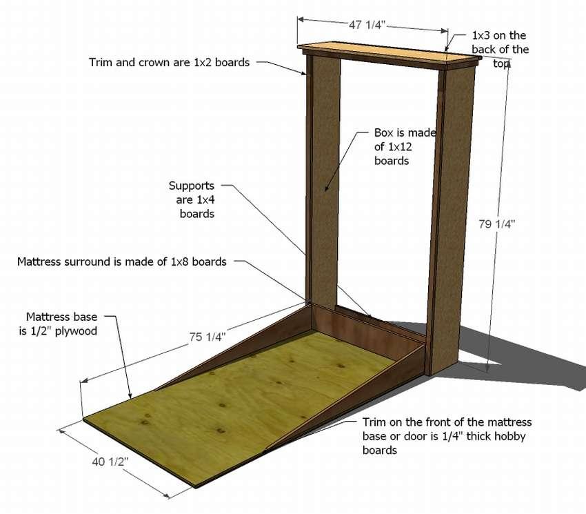 шкаф кровать своими руками чертежи и схемы