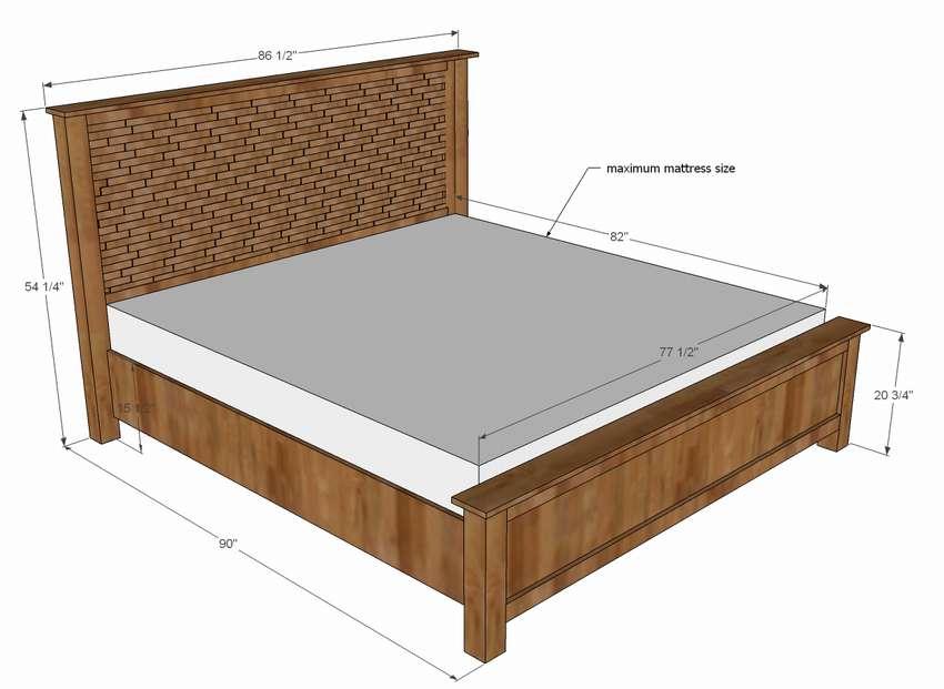 двуспальная кровать своими руками чертежи и схемы