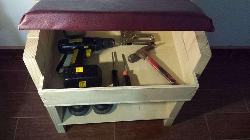 скамейка с подставкой и ящиком